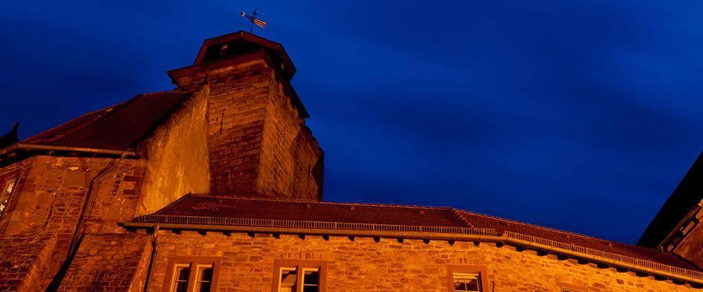 Burg Breuberg bei Nacht, Bergfried