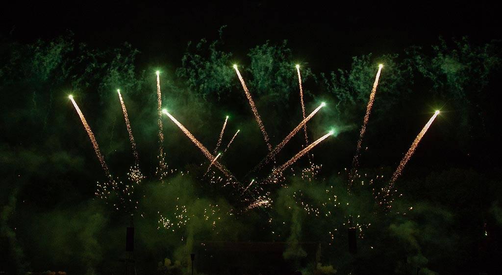 Grünes Feuerwerk