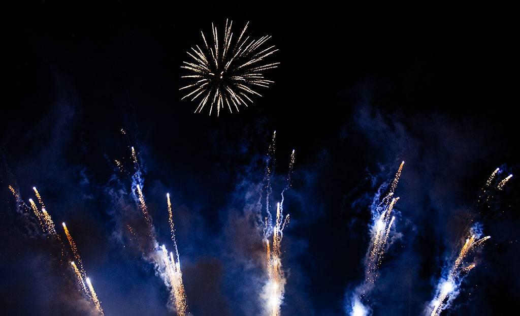 Blaues Feuerwerk