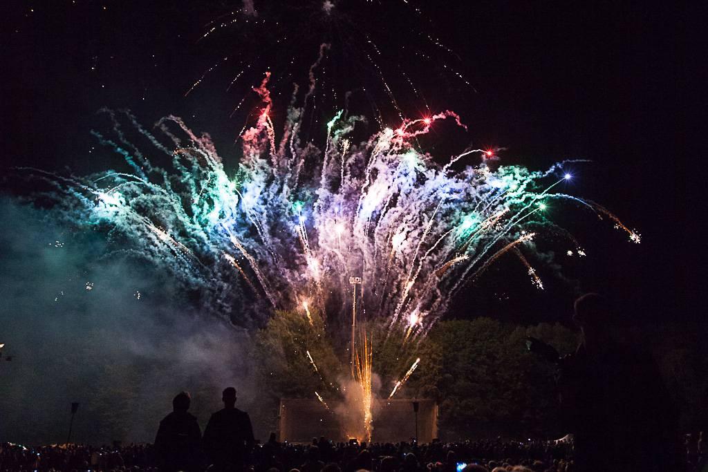 Feuerwerk zu Silvester