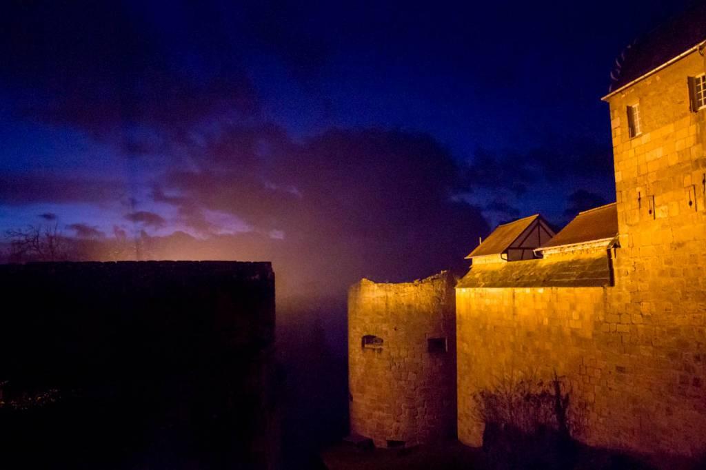Nacht über Burg Breuberg
