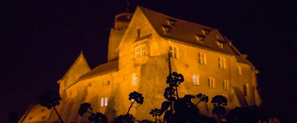 Burg Breuberg bei Nacht